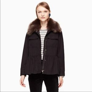 Kate Spade military jacket with removable collar